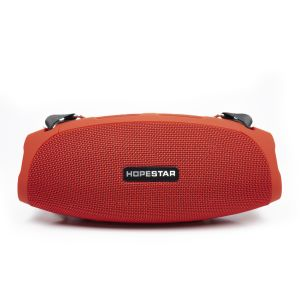 PNI FunBox T13R portable speaker, red, Bluetooth, 2x5W, micro SD slot, USB, AUX, MP3 player